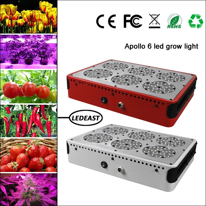 3W chip 270w apollo 6 led grow light hydroponic for lettuce, tomato, strawberry, herb etc