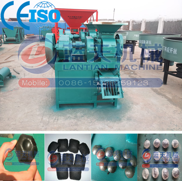 Four roller twice press semi coke briquette ball press machine