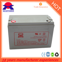 stroage battery max used life for gel 12v 100ah battery