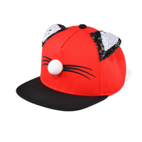 Unisex Baby Kids Boys Girls Fashion Cat Ears Hip Hop Snapback Hat