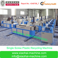 SJ-90 120 Plastic scraps HDPE LDPE PP Waste Bag and Film Single Screw Water Cooling Plastic scraps Granule Making Machine