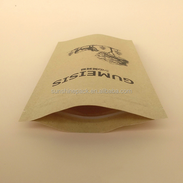 Favorabl price flexiloop White kraft paper bag for candy bar