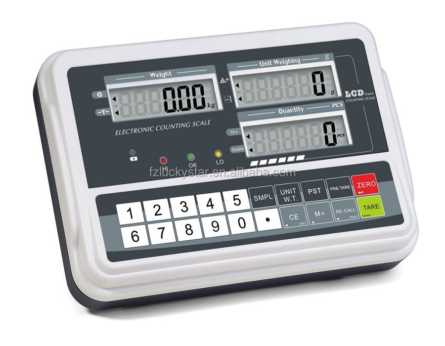 New economic design electronic digital counting indicator with large LCD display & RS232