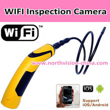 WIFI Inspection Camera with App, Waterproof, LED Nightvision, 640*480 avi