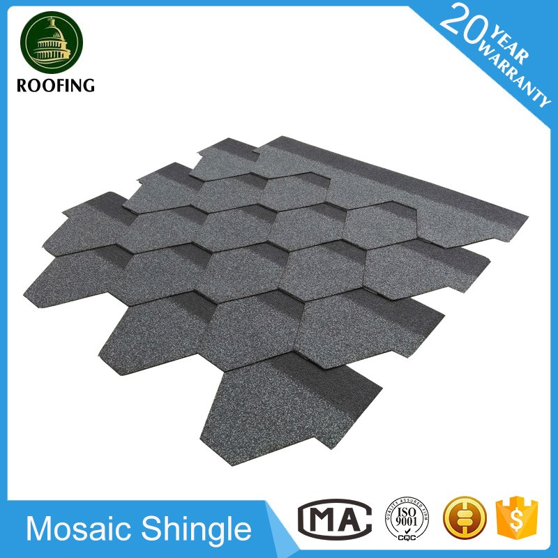 Mosaic asphalt shingle roofing materials,asphalt shingles tiles with great price