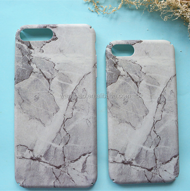 Free Sample Wholesale Hard PC 3D IMD Marble Stone Patten Cell Phone Full Cover Case for Iphone 8