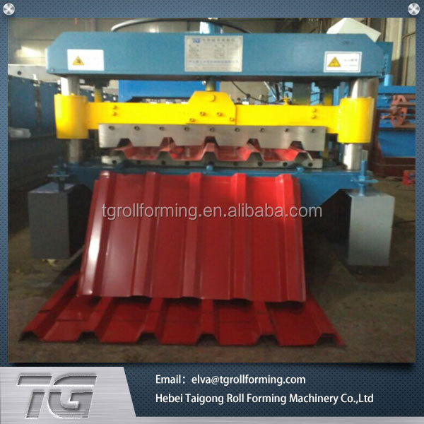 High frequency automatic roof metal sheet profile machine