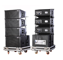 "Admark active 3 way 10"" line array with calss-D amplifier and built-in DSP"