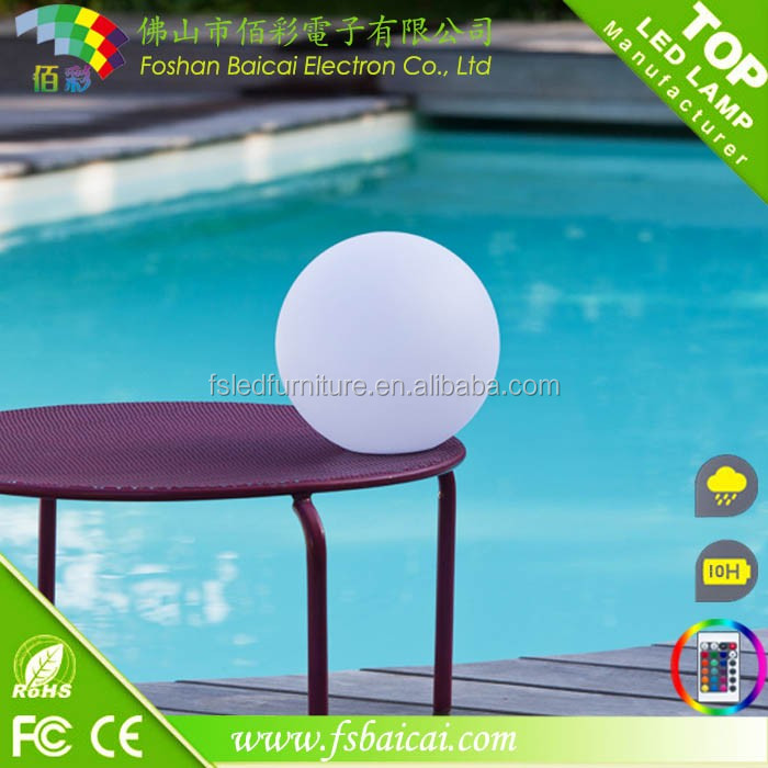 Glowing light up orb moonlight led ball light rechargeable floating led pool light