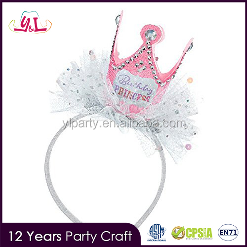 2017 Trending Products Princess Headband Good Birthday Gifts For Girls