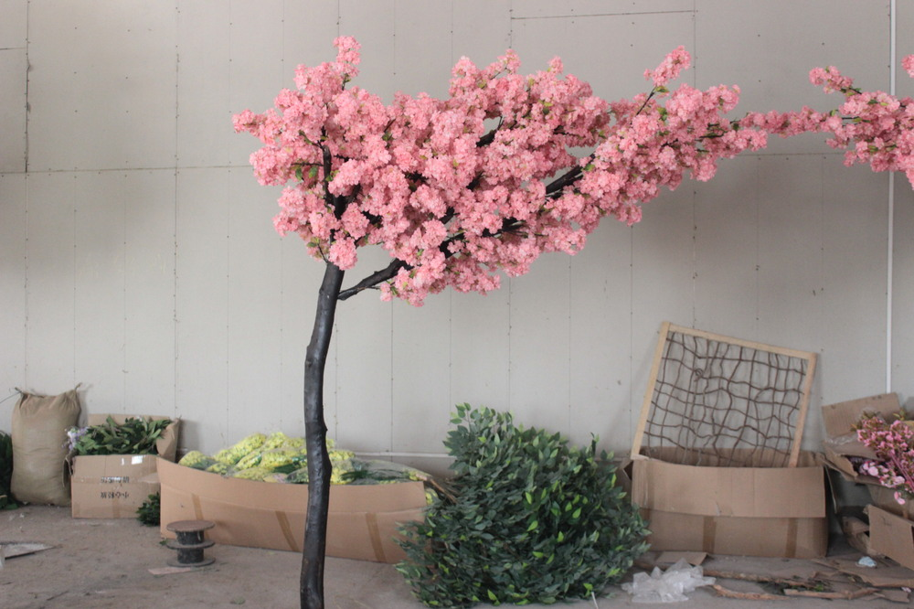 Indoor Decoration Pink Arch Of Flowers For Wedding Silk