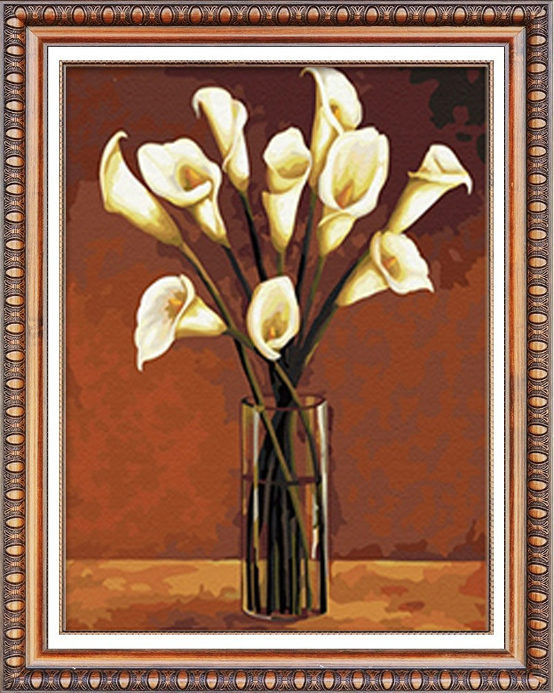 2015 white flower diamond painting 3d pictures diy (40*50cm)