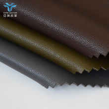 China manufacturer thin PU faux leather material for clothes