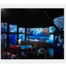 programmable flexible led curtain wall video display