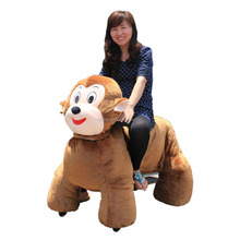 Plush animal rides car playing indoor and outdoor motor and battery plush rocking animal