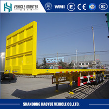Alibaba supplier good quality cheap fifth wheel flatbed trailers for sale