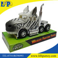 Kids Zoo Animal Toy Creative Plastic Friction Truck with Animal Head Zebra