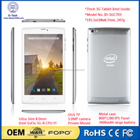 Cheapest 7 inch tablet / 3G phone call, SoFIA 3G-R, Quad Core tablet pc