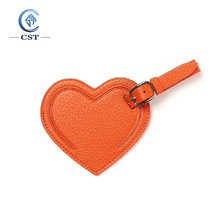 Hot Selling Travel Baggage Bag Heart Shape Leather Luggage Tag