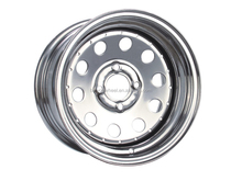 Chrome Plated Modular Trailer wheel Round wheels for Car trailer 13*4.5 14*5.5 14*6 15*7'' 14*7'' For south African trailer