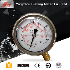 "2"" stainless steel glycerine or silicone oil filled pressure gauge"