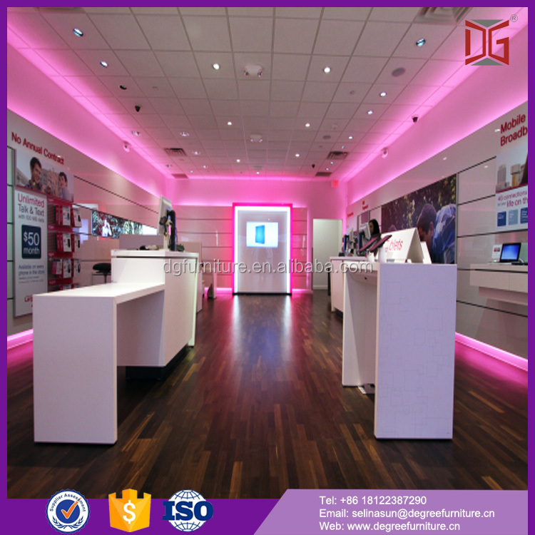 Modern Cell Phone Store Decoration Design With Display Counter