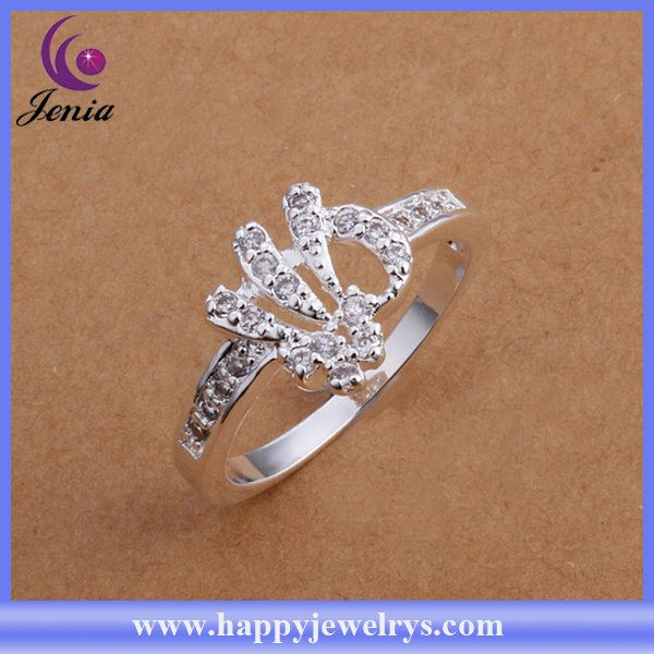 Fashionable design high quality 925 silver ring base CR200
