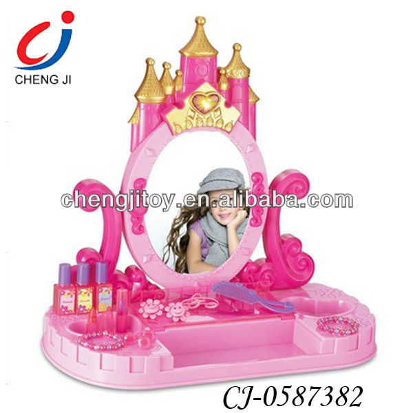 Pink accessories light and music modern dressing table