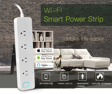 Porous intelligent power Socket works with Amazon Alexa support WiFi network Switch timing by Android/iOS phone or tablet