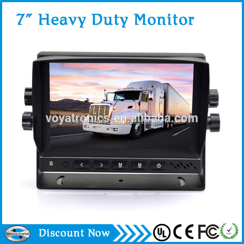 7inch 24v bus coach monitor with BT,Video record option