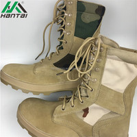 new arrival best sellling canvas high gloss military boots with leather upper