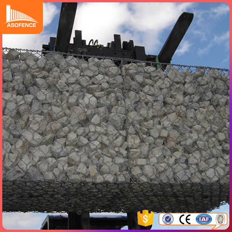 high quality Hot dipped galvanized cost of gabion baskets