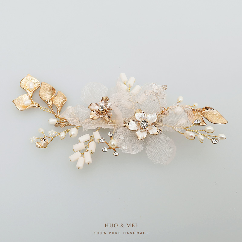 Gold Plated Flower Styles Crystal Rhinestone Bridal Wedding <strong>Hair</strong> clip Jewelry <strong>Accessories</strong> for Wedding