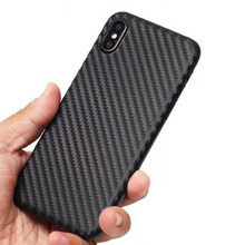 0.3mm PP Material Carbon Fiber Cell Phone Case Cover For IPhone 5 6S 7 7 Plus 8 X
