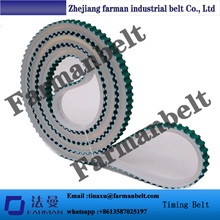 T10 pu cleat seamless timing belt with fabric
