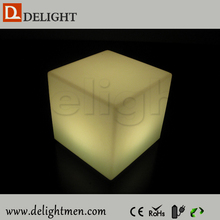 cube led/ colorful light up cube chair/ led outdoor armless plastic stacking chair