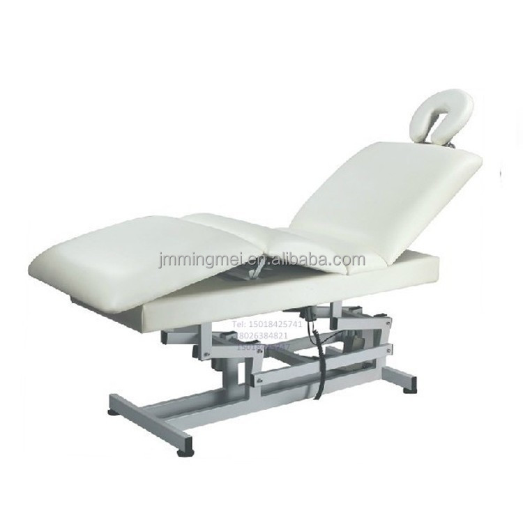 Upmarket salon 2 motors used Electric massage table facial bed for salon furniture