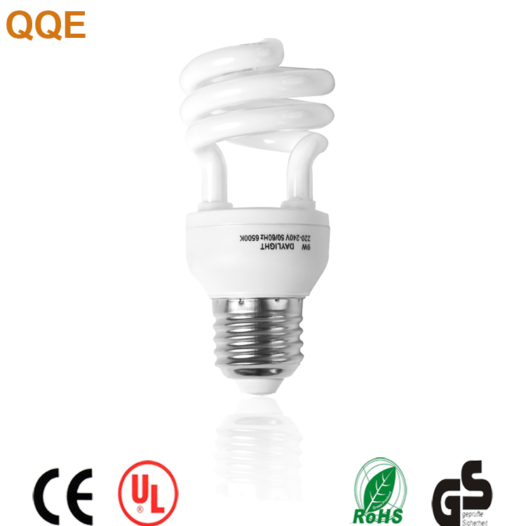 15w Half semi spiral CFL China energy saving bulbs