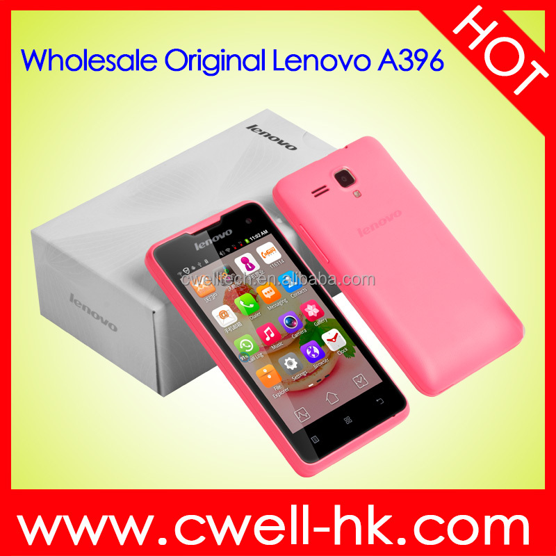 Original Lenovo A396 Cellphone Quad Core 1.2GHz 4.0 Inch Screen 3G (WCDMA) WiFi android 2.3 Dual Sim card GSM Smart Mobile Phone