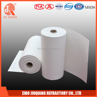 Refractory thermal insulation fire resistant ceramic fiber paper