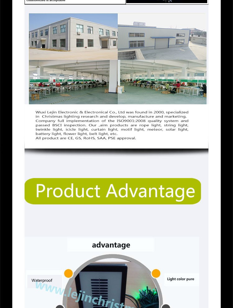 Noma verdes mais populares luzes solares pilhas Made in China decoração ao ar livre