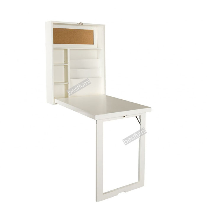 Folding Desk with Wall Mounted Cabinet