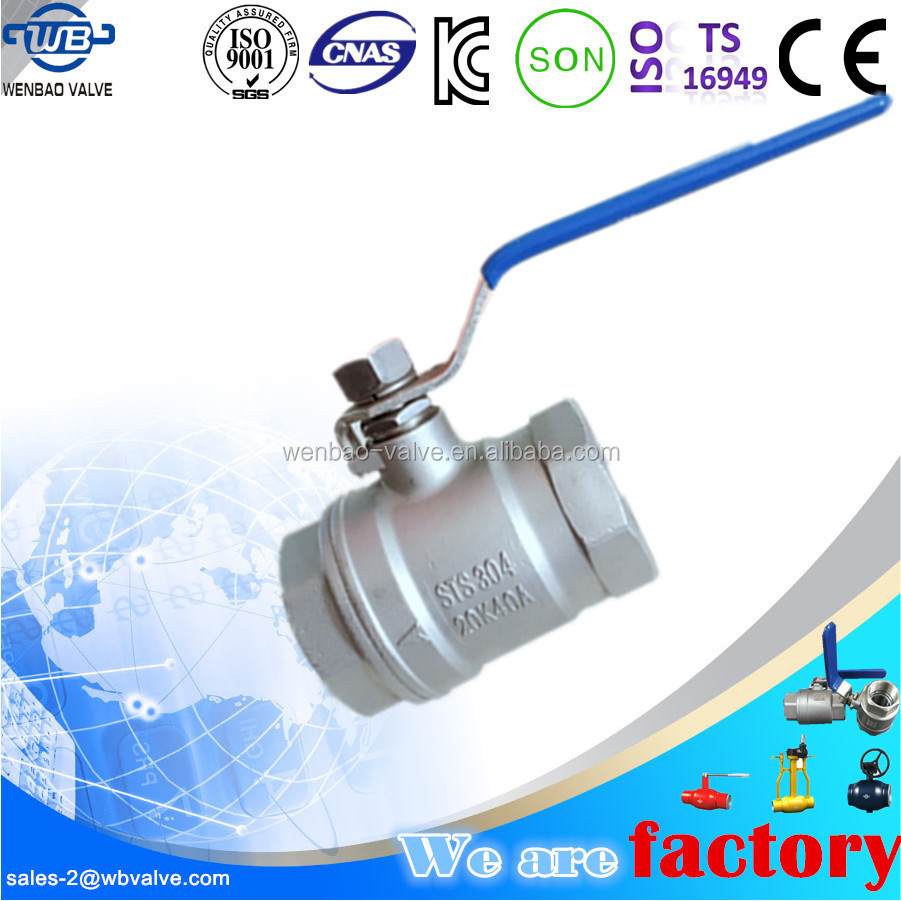 2pc stainless steel investment casting reducing bore ball valve 20K