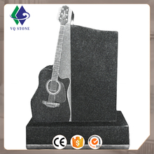 France style China factory price granite guitar headstones/monuments