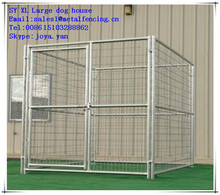 Pet cages outdoor dog kennels 6'x8'x6' dog kennels hot dip galvanized dog kennels