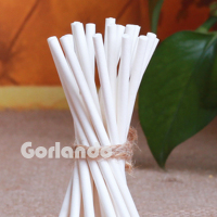 Small white paper stick for cotton buds