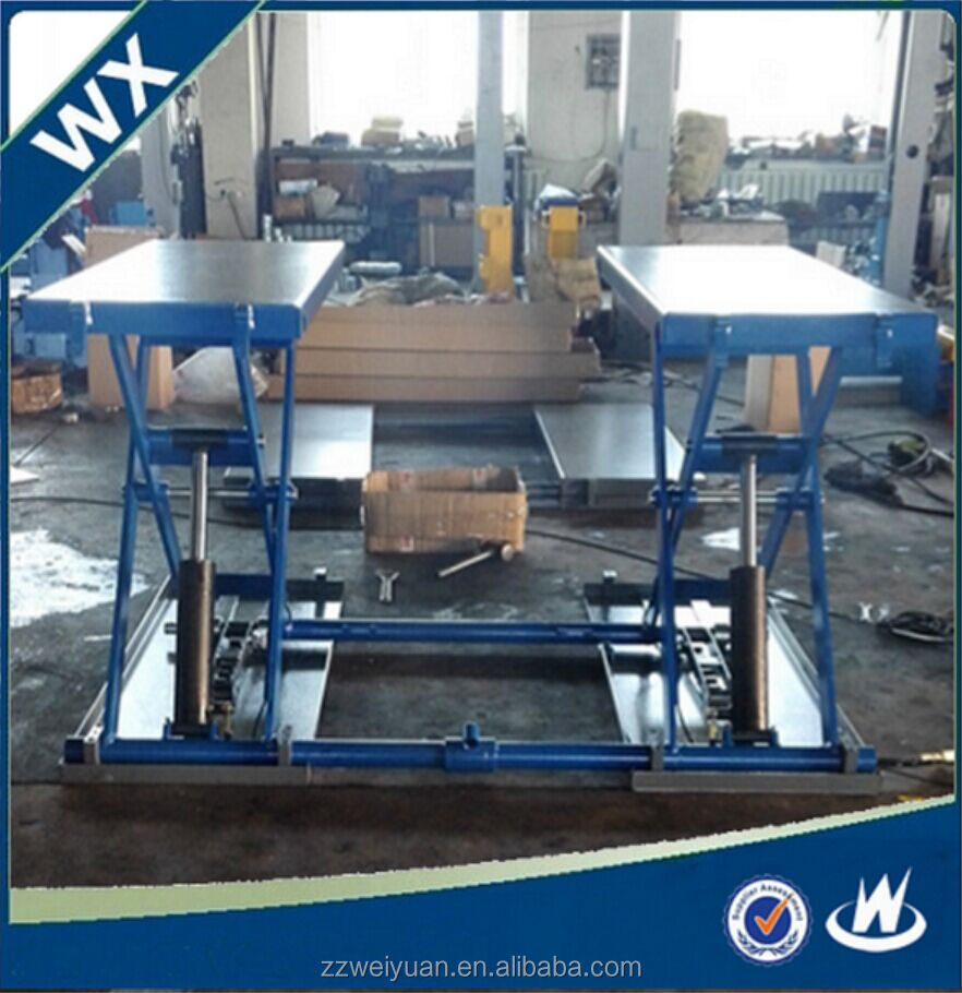 Scissor car lift WX-SC-3000B, Mini tilting car lift