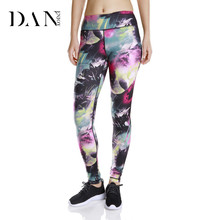 Printed Womens Fitness Workout Yoga Pants Running Jogging Tights Leggings