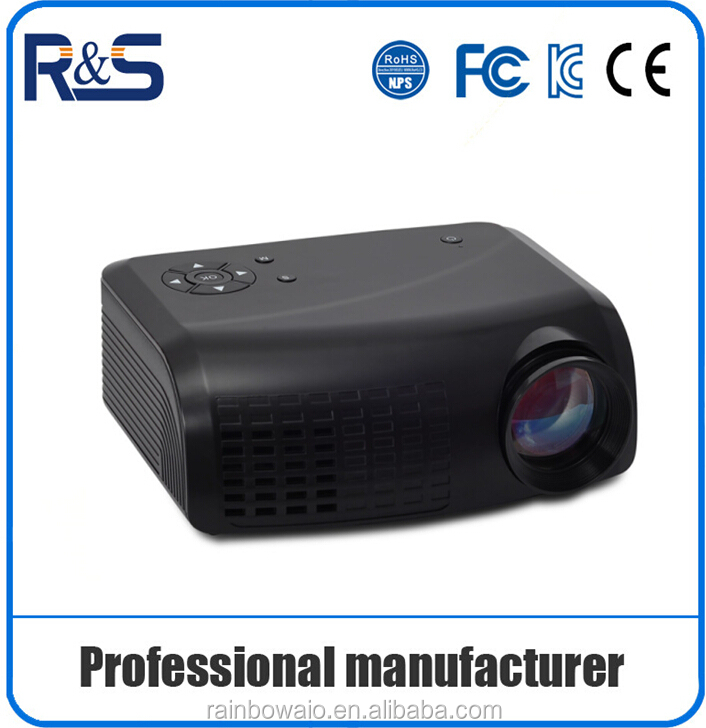 2016 professional 1080p lcd projector with led lamp support digital / multimedia use , small video projector with 640*480