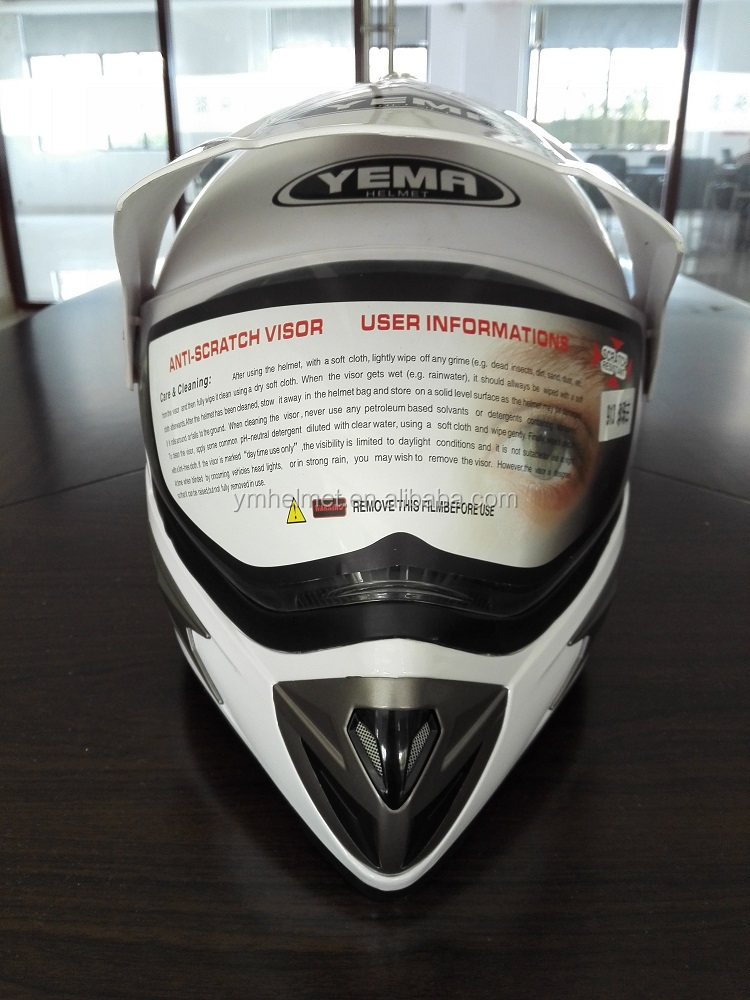 ABS fresh material helmet ECE / DOT approved motorcycle cross helmet (YM-913)